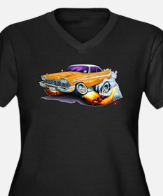 1958-59 Fury Orange Car Women's Plus Size V-Neck D