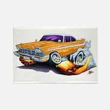 1958-59 Fury Orange Car Rectangle Magnet