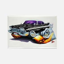1958-59 Fury Black Car Rectangle Magnet