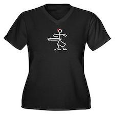 Hula Hoop Fun Women's Plus Size V-Neck Dark T-Shir
