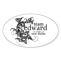 Team Edward - New Moon Oval Decal