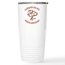 40th Ceramic Travel Mug