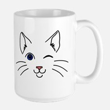 Winking Cat Large Mug
