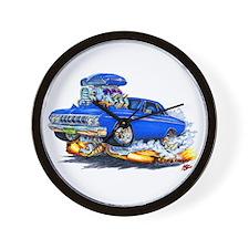 1964 Fury Blue Car Wall Clock