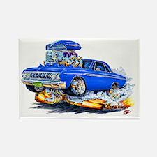 1964 Fury Blue Car Rectangle Magnet