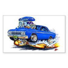 1964 Fury Blue Car Rectangle Decal