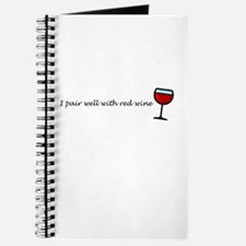 I Pair Well With Red Wine Journal