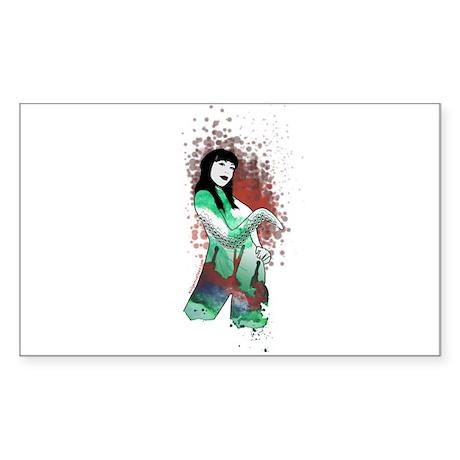 High priestess of Cthulhu Rectangle Sticker