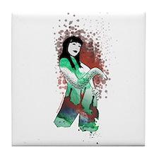 High priestess of Cthulhu Tile Coaster