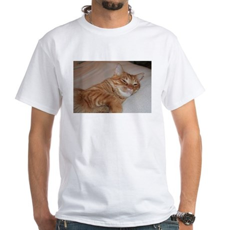 Cat Nap White T-Shirt