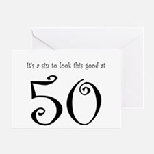 it's a sin 50 Greeting Card