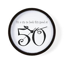 it's a sin 50 Wall Clock