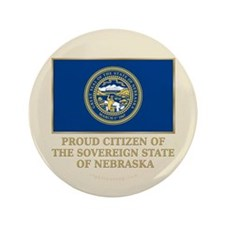 """Nebraska Proud Citizen 3.5"""" Button"""