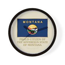 Montana Proud Citizen Wall Clock