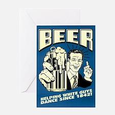 Beer Helping White Guys Dance Greeting Card