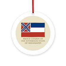 Mississippi Proud Citizen Ornament (Round)