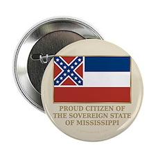 """Mississippi Proud Citizen 2.25"""" Button"""