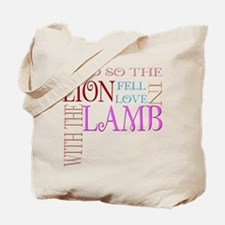 Lion fell in Love with the La Tote Bag