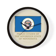 Minnesota Proud Citizen Wall Clock