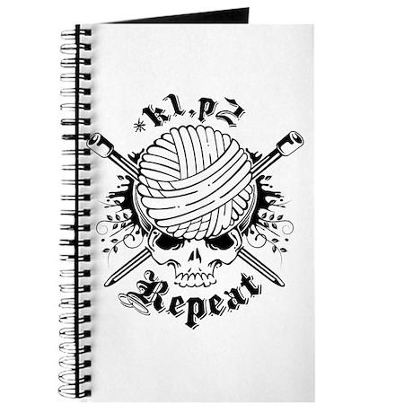 Knitting Skull Black Journal