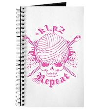 Knitting Skull Pink Journal