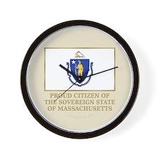 Massachusetts Proud Citizen Wall Clock