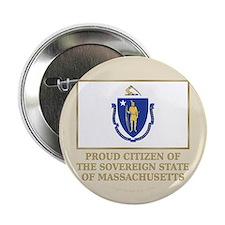 """Massachusetts Proud Citizen 2.25"""" Button"""