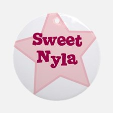 Sweet Nyla Ornament (Round)