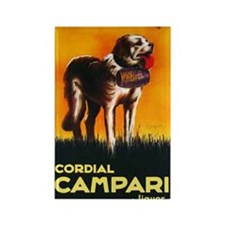 Cordial Campari Liquor Vintage Ad Rectangle Magnet