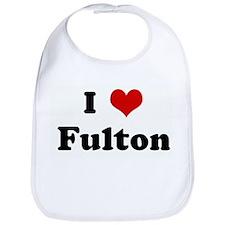 I Love Fulton Bib