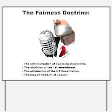 Fairness Doctrine Defined - Yard Sign