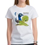 Peacock in Blue Women's T-Shirt