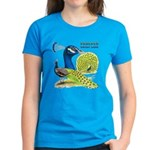 Peacock in Blue Women's Dark T-Shirt