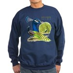 Peacock in Blue Sweatshirt (dark)