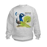 Peacock in Blue Kids Sweatshirt