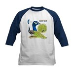 Peacock in Blue Kids Baseball Jersey