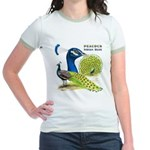 Peacock in Blue Jr. Ringer T-Shirt