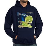 Peacock in Blue Hoodie (dark)