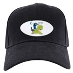Peacock in Blue Black Cap