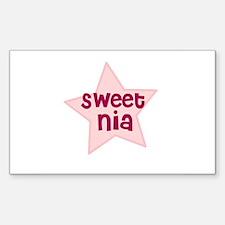 Sweet Nia Rectangle Decal
