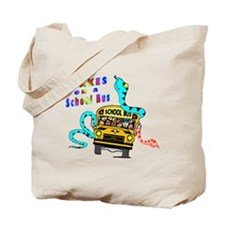 Snakes on a School Bus Tote Bag