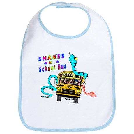 Snakes on a School Bus Bib