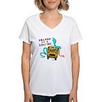 Snakes on a School Bus Women's V-Neck T-Shirt