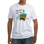 Snakes on a School Bus Fitted T-Shirt