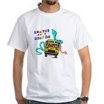 Snakes on a School Bus White T-Shirt