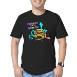 Snakes on a School Bus Men's Fitted T-Shirt (dark)