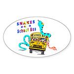 Snakes on a School Bus Oval Sticker (10 pk)