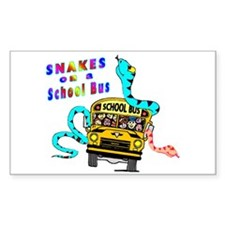 Snakes on a School Bus Rectangle Decal