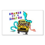 Snakes on a School Bus Rectangle Sticker