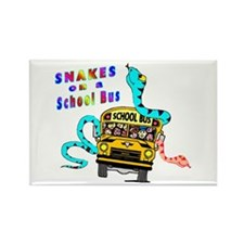 Snakes on a School Bus Rectangle Magnet